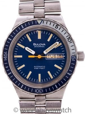 Bulova Snorkel Diver's Stainless Steel circa 1970's