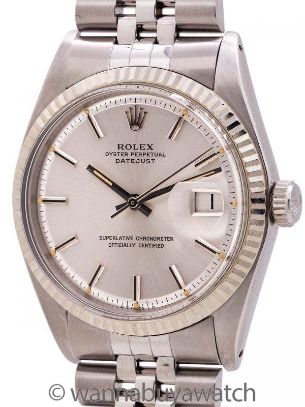 Rolex SS Datejust ref 1601 Steel & 14K WG circa 1973