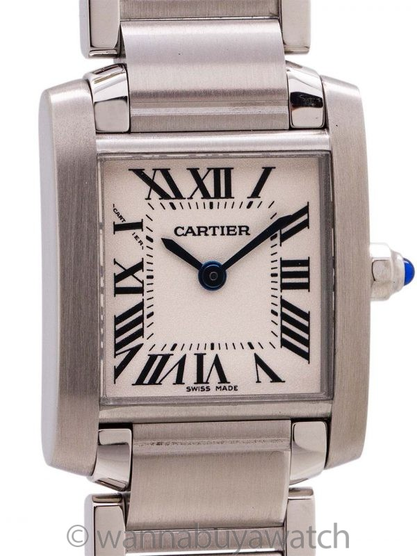 Cartier Lady's Tank Francaise Stainless Steel circa 2018