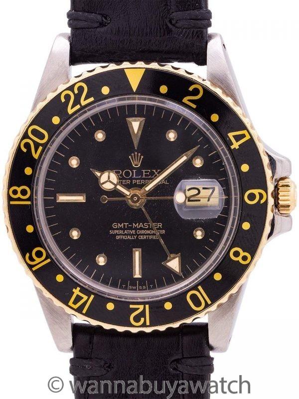 Rolex GMT ref 1675/3 SS/14K YG circa 1978