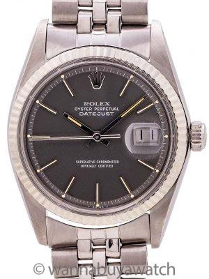 Rolex Datejust ref 1601 SS/14K WG Gray Dial circa 1974