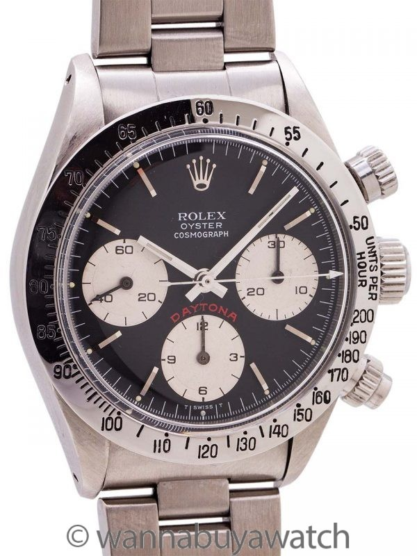 "Rolex Daytona ref 6265 ""Big Red"" circa 1978"