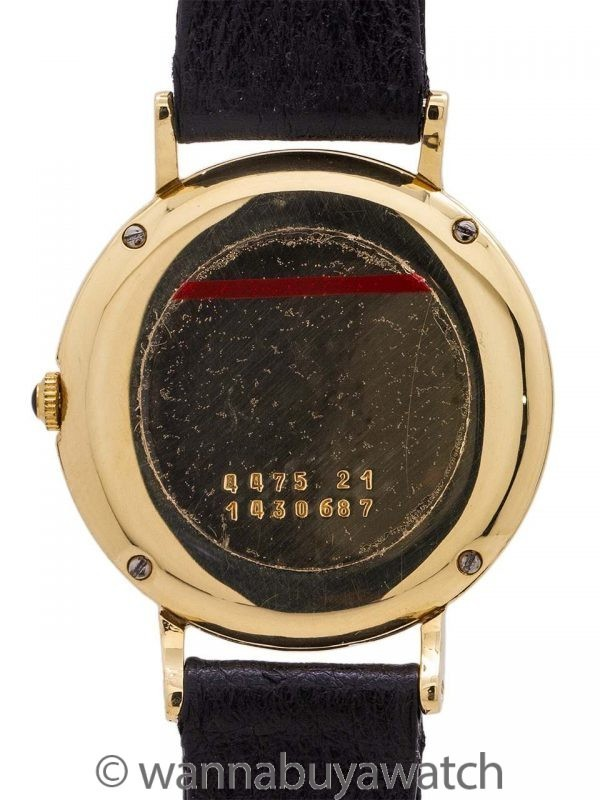 Lady's Gucci Lapis Dial 18K YG circa 1980's