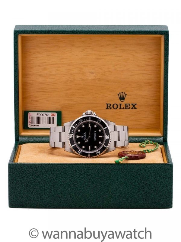 Rolex Submariner ref# 14060M Box & Papers circa 2003