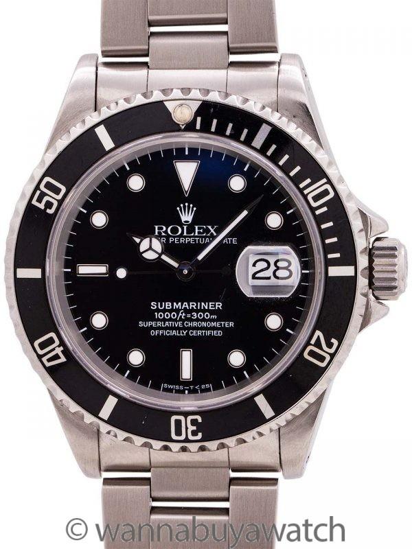 Rolex Submariner ref# 16610 circa 1995 Tritium Box & Papers