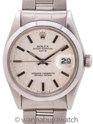 Rolex Oyster Perpetual Date ref 1500 Linen Sigma Dial circa 1973