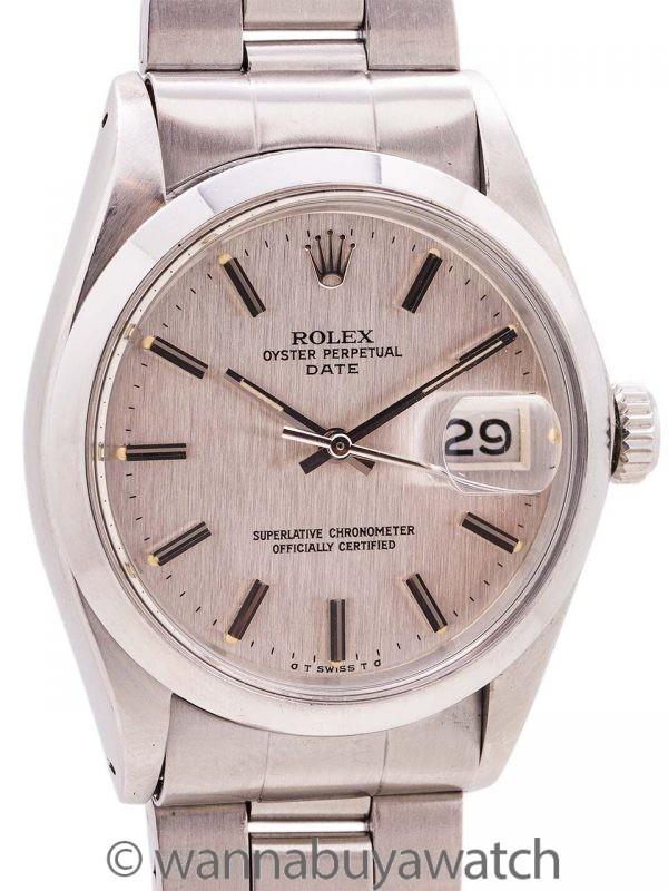 Rolex Oyster Perpetual Date ref 1500 Linen Sigma Dial circa 1973