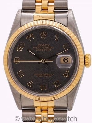 Rolex Datejust ref# 16233 SS/18K YG Jubilee Dial circa 1993