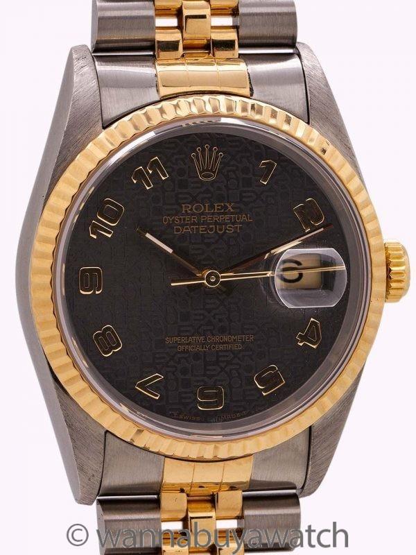 Rolex Datejust ref# 16233 SS/18K YG Jubilee Dial circa 1993
