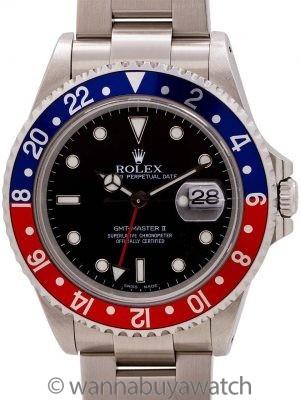 "Rolex GMT II ref 16710 ""Pepsi"" Stainless circa 2000"