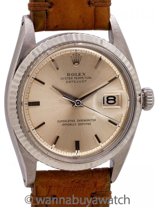 Rolex Datejust ref# 1601 SS/14K WG circa 1962