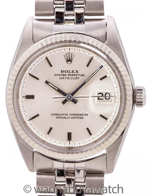 Rolex SS Datejust ref 1601 SS/14K WG circa 1967