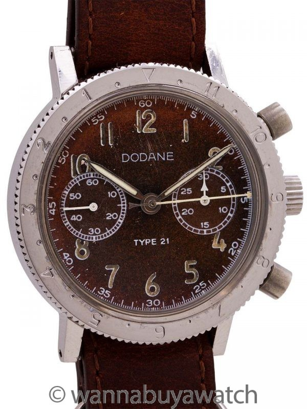 Dodane Type 21 French Air Force Flyback Chronograph circa 1960's