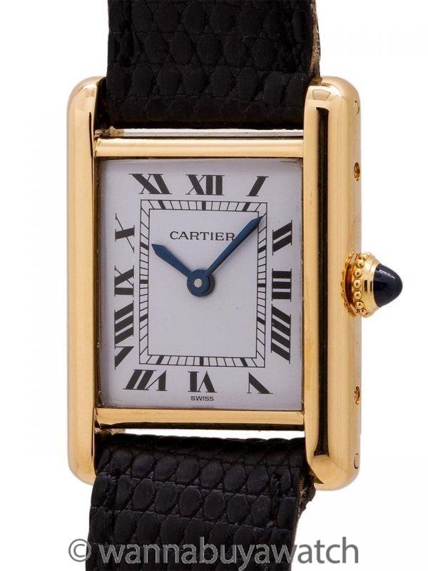 Cartier Lady's 18K Gold Tank Louis circa 1970's B & P