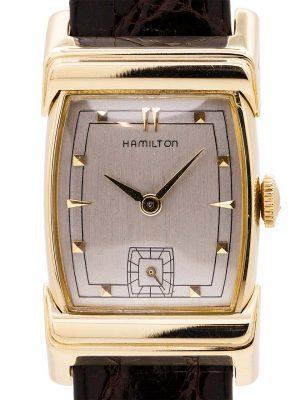 "Hamilton ""Scott"" 14K YG Hooded Lugs circa 1950's"