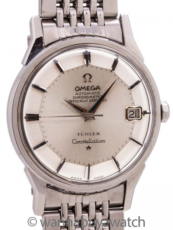 Omega Constellation signed TURLER ref 168.005 Stainless Steel circa 1963