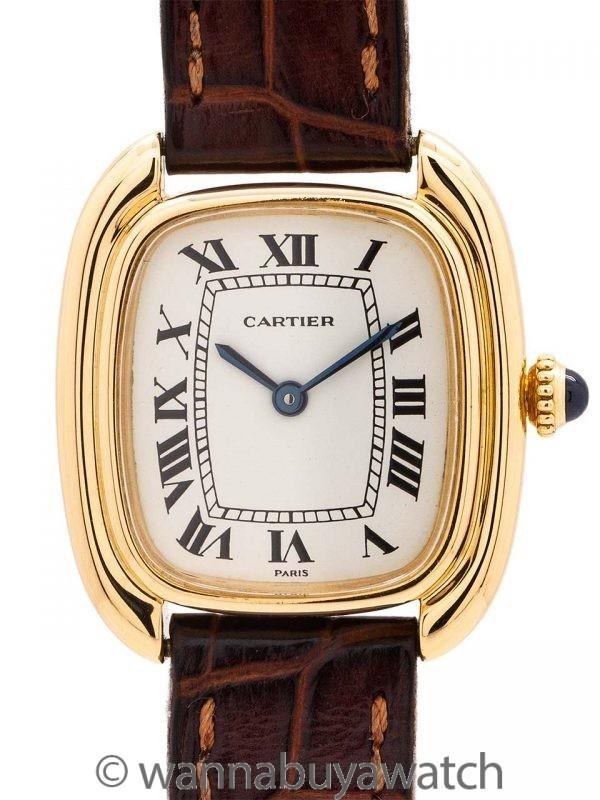 Cartier Lady 18K YG Gondole circa 1970's w/ Deployment