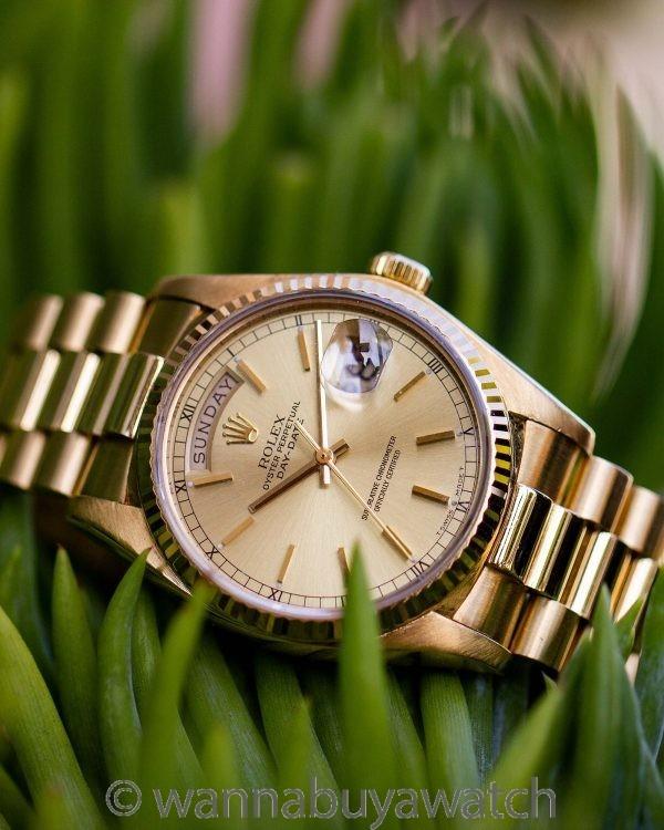 Rolex Day Date President ref 18038 18K YG circa 1978
