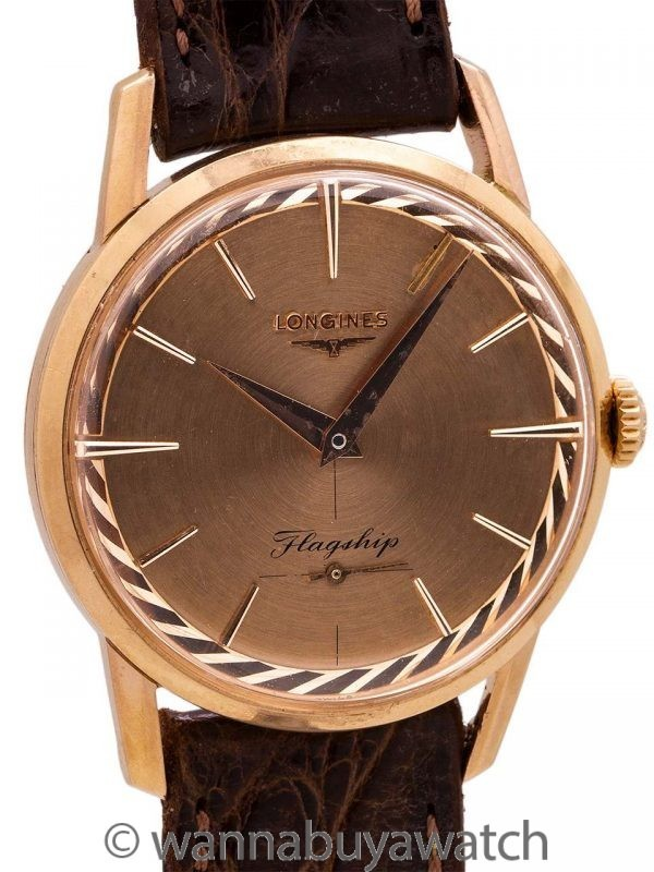 Longines Flagship 18K PG  ref. 501 Manual Wind circa 1957