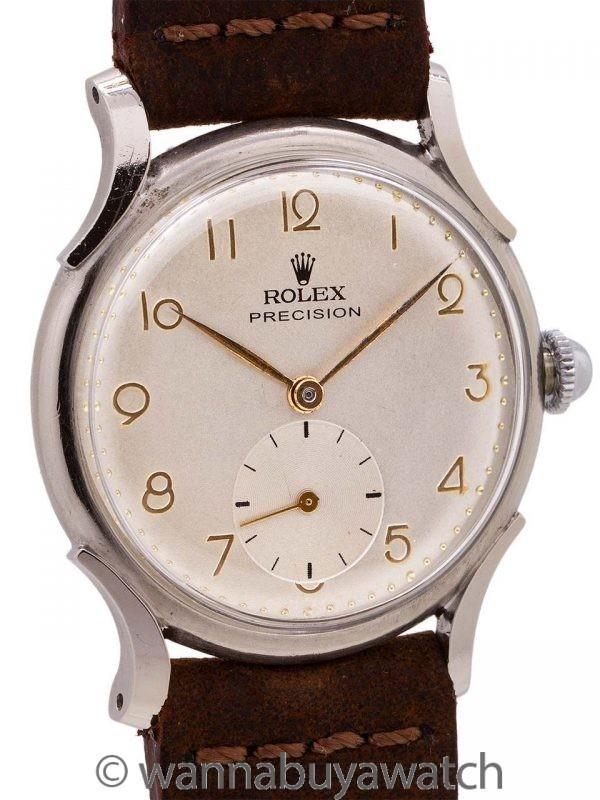 Rolex Precision Stainless Steel ref# 4542 circa 1950