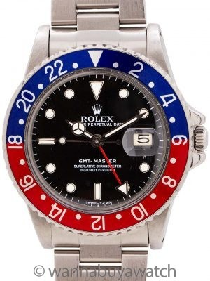 Rolex GMT Stainless Steel ref 16750 circa 1984