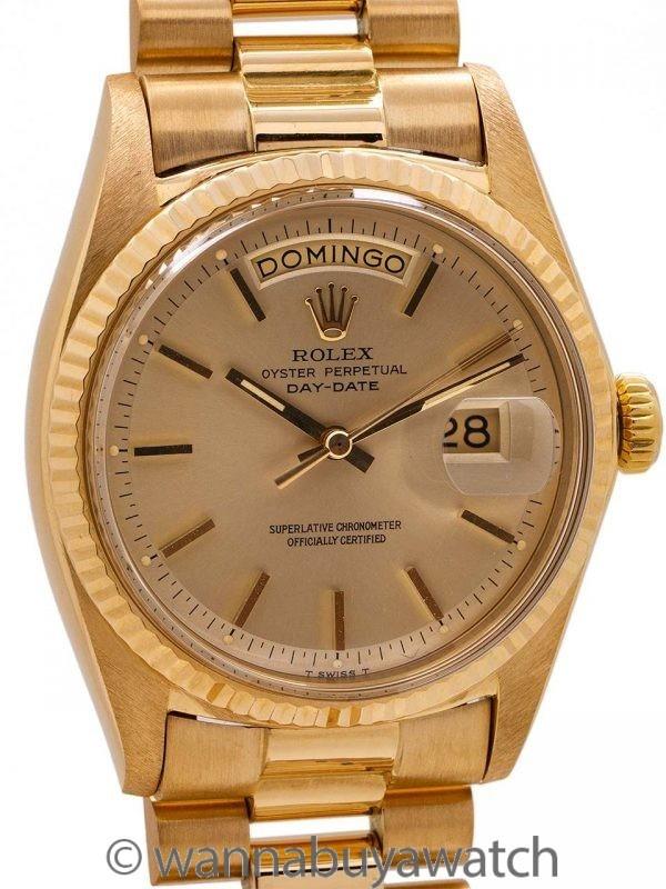 Rolex 18K YG Day Date ref 1803 circa 1969