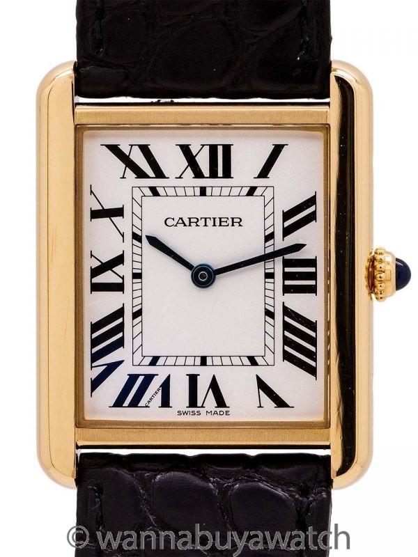 Cartier Man's Tank Solo 18K YG circa 2010's
