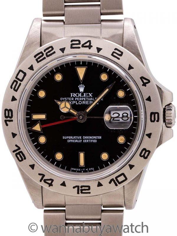 Rolex Explorer II ref 16550 Patina'd Dial circa 1986 B & P
