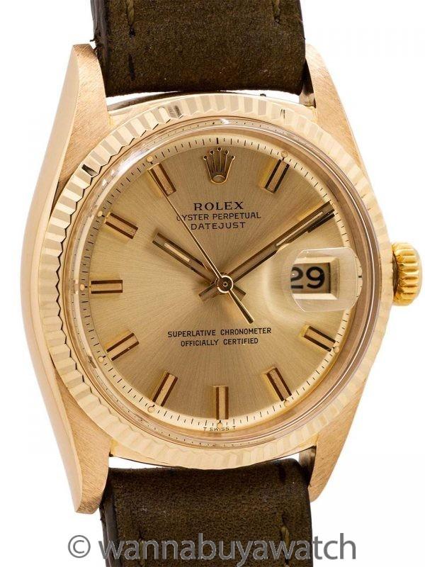Rolex Datejust ref 1601 18K YG circa 1968