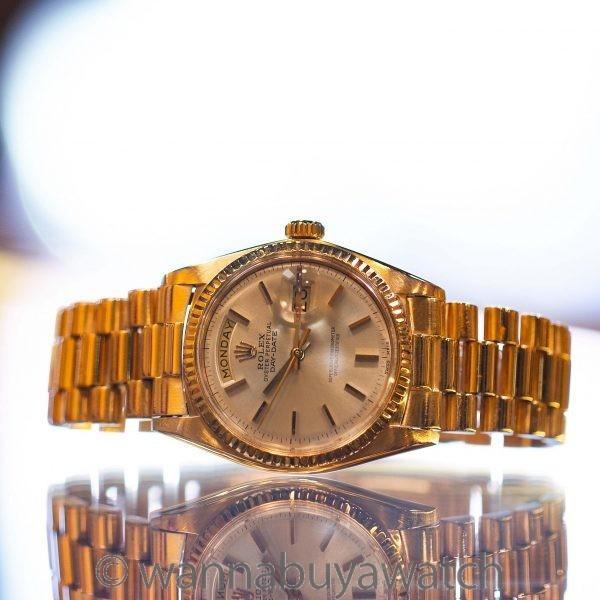Rolex 18K PG Day Date President ref 1803 circa 1971