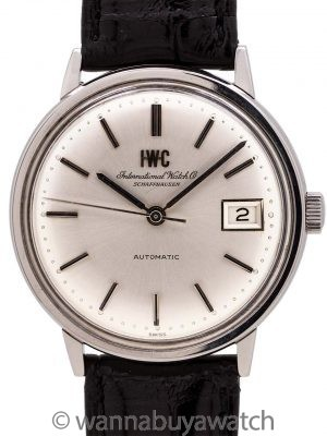 IWC Schauffhausen Stainless Steel Automatic with Date circa 1960's