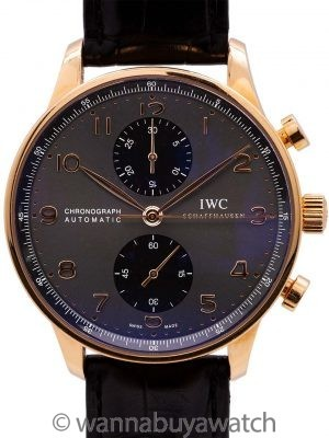IWC Portuguese Chronograph 18K PG circa 2010's