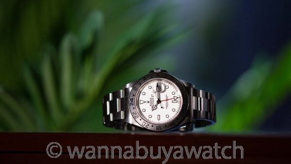 """Rolex Explorer II Transitional ref. 16570 circa 1998 """"Swiss Only"""" Box & Papers"""