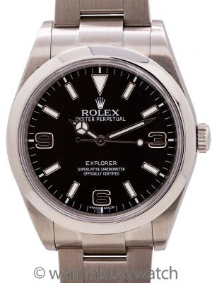 Rolex Explorer 1 ref 214270 39mm circa 2012 with Service Card