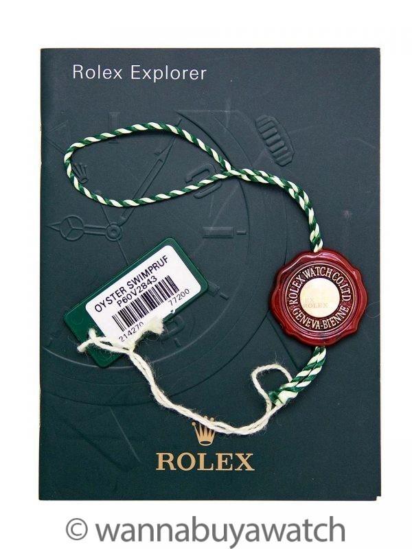 Rolex Explorer 1 ref 214270 39mm circa 2012 with Service Card