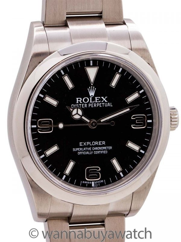 Rolex Explorer 1 ref 214270 39mm circa 2012 with Warranty Card