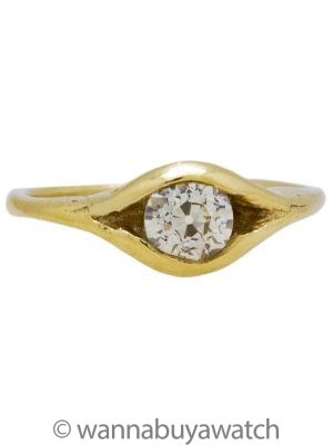 Lisa Shtromberg 14K Green Gold & 0.70ct OEC VS2 Yellow Diamond Ring
