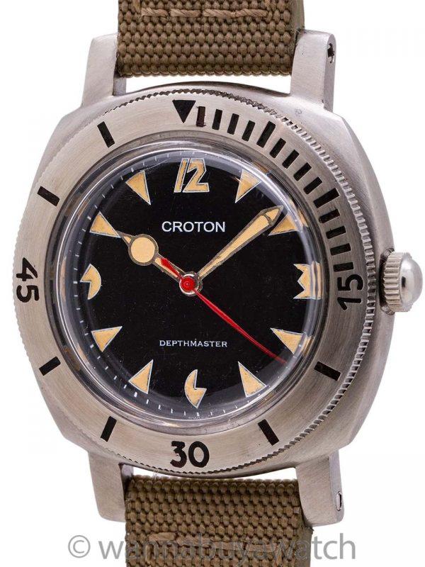 """Croton Depthmaster 1000 Diver's circa 1960 """"Pac Man"""""""