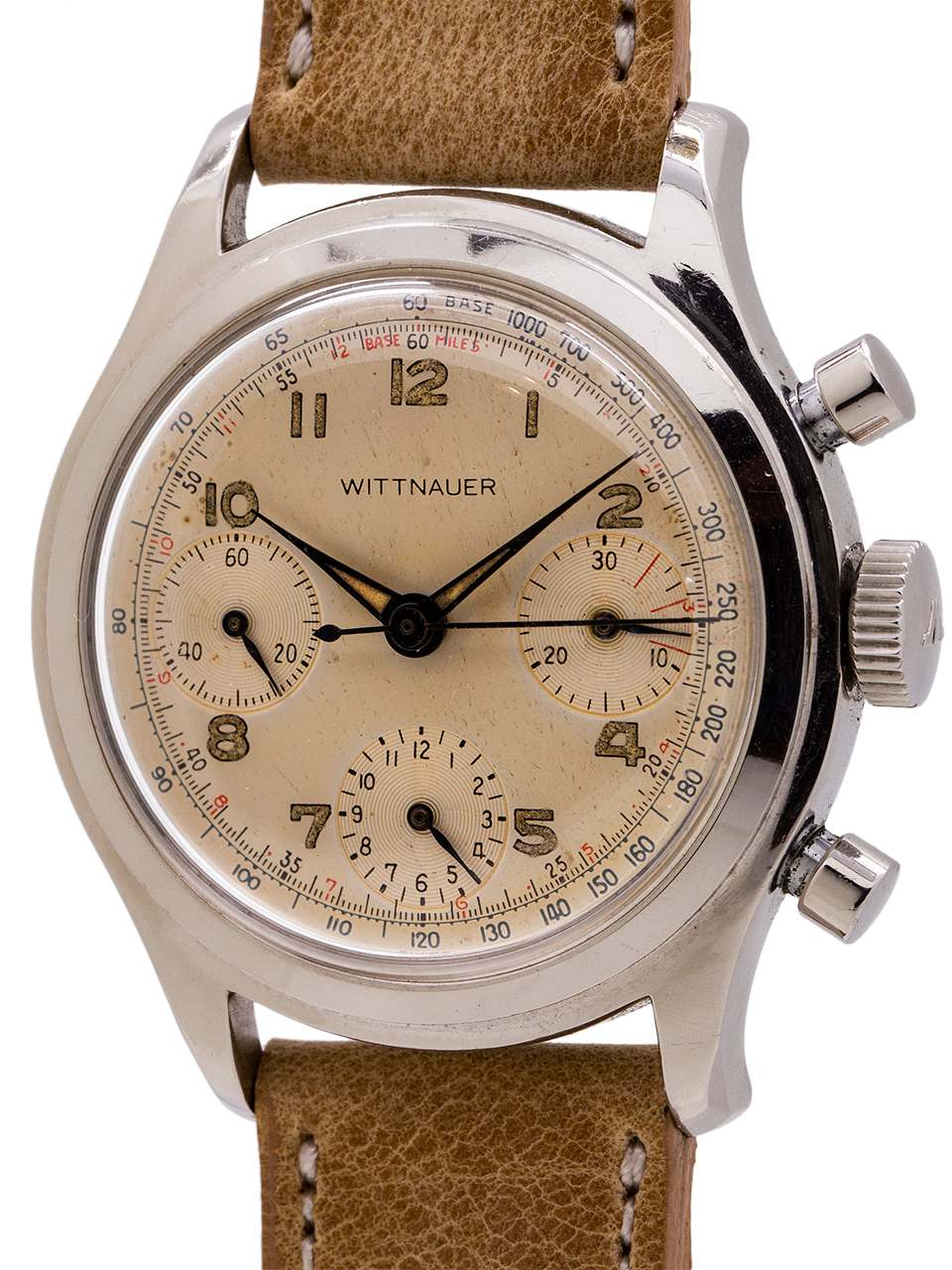 Wittnauer Watch Value >> Wittnauer Vintage Chronograph Circa 1950 S Valjoux 72