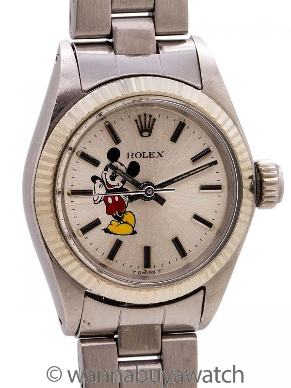 """Lady's Rolex Oyster Perpetual """"Mickey Mouse"""" ref 6619 circa 1969"""