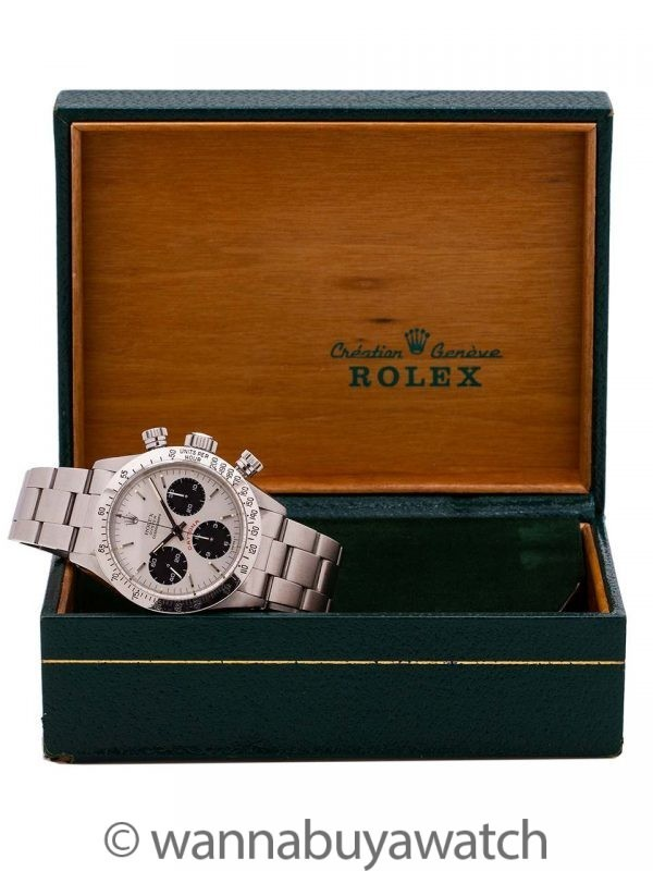 "Rolex SS Daytona ""Big Red"" ref 6265 circa 1984 B & P Mint!"