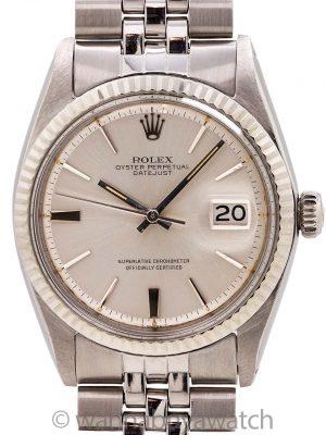 """Rolex SS Datejust ref 1601 """"Door Stop Dial""""  Steel & 14K WG circa 1978"""