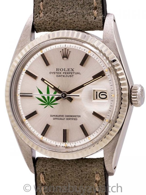 Rolex Datejust ref 1601 SS/14K Cannabis Logo circa 1976