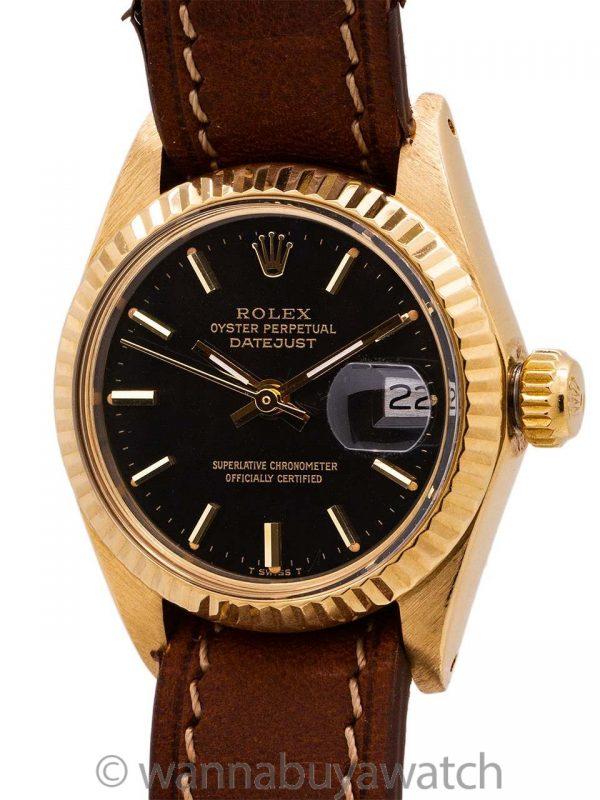 Lady Rolex Datejust ref 6917 18K YG circa 1978