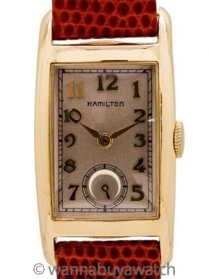 "Hamilton ""Cameron"" 14K YG Dress Model circa 1950's"