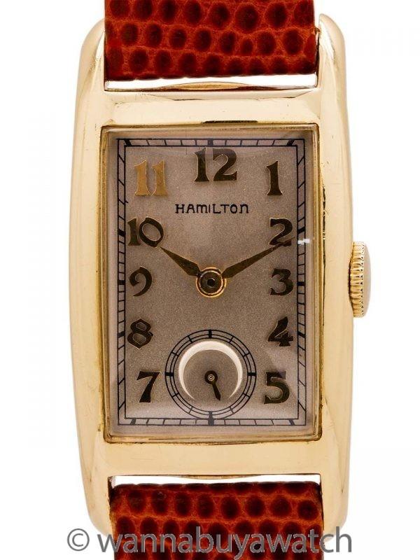 "Hamilton ""Cameron"" 14K YG Dress Model circa 1950's"