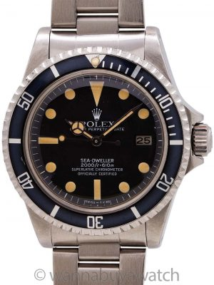 "Rolex Sea-Dweller ref 1665 ""Great White"" Mk IV circa 1980"