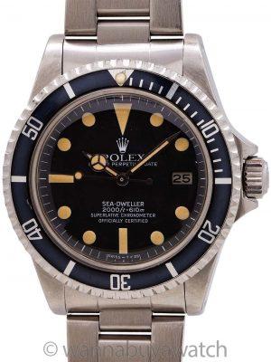 "Rolex Sea-Dweller ref 1665 ""Great White"" Mk IV circa 1980"
