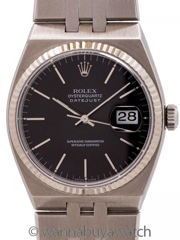 Rolex Datejust ref 17014 SS & 18K WG Oyster Quartz circa 1990