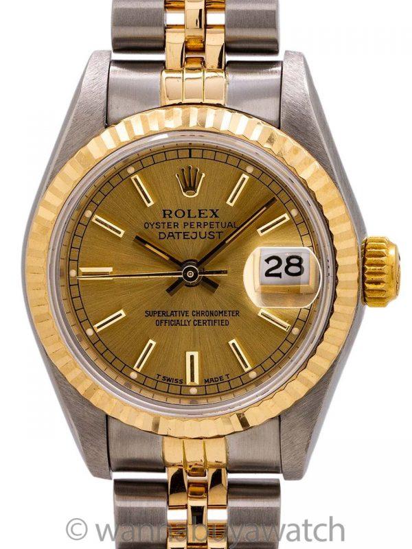 Lady Rolex Datejust SS & 18K ref 69173 circa 1986